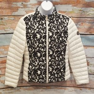 NWOT NEVER WORN Michael Kors Black Lace M Puffer!